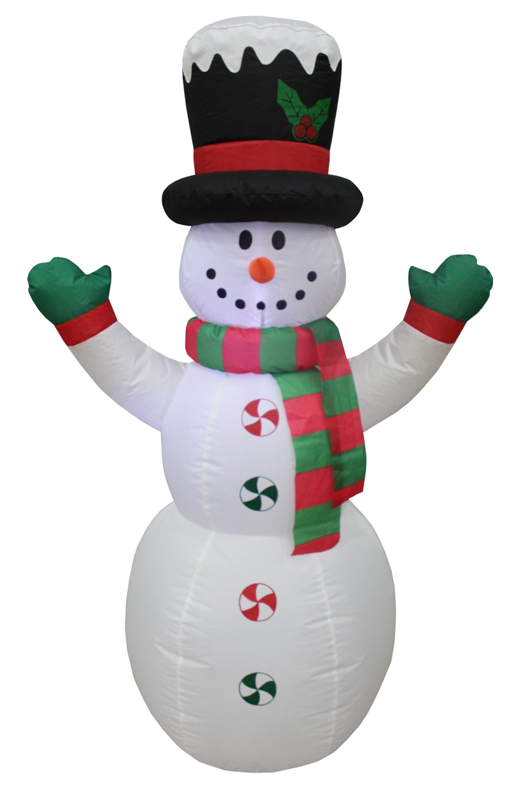 4 foot tall lighted christmas inflatable snowman with hat led yard art decoration - Amazon Outdoor Lighted Christmas Decorations