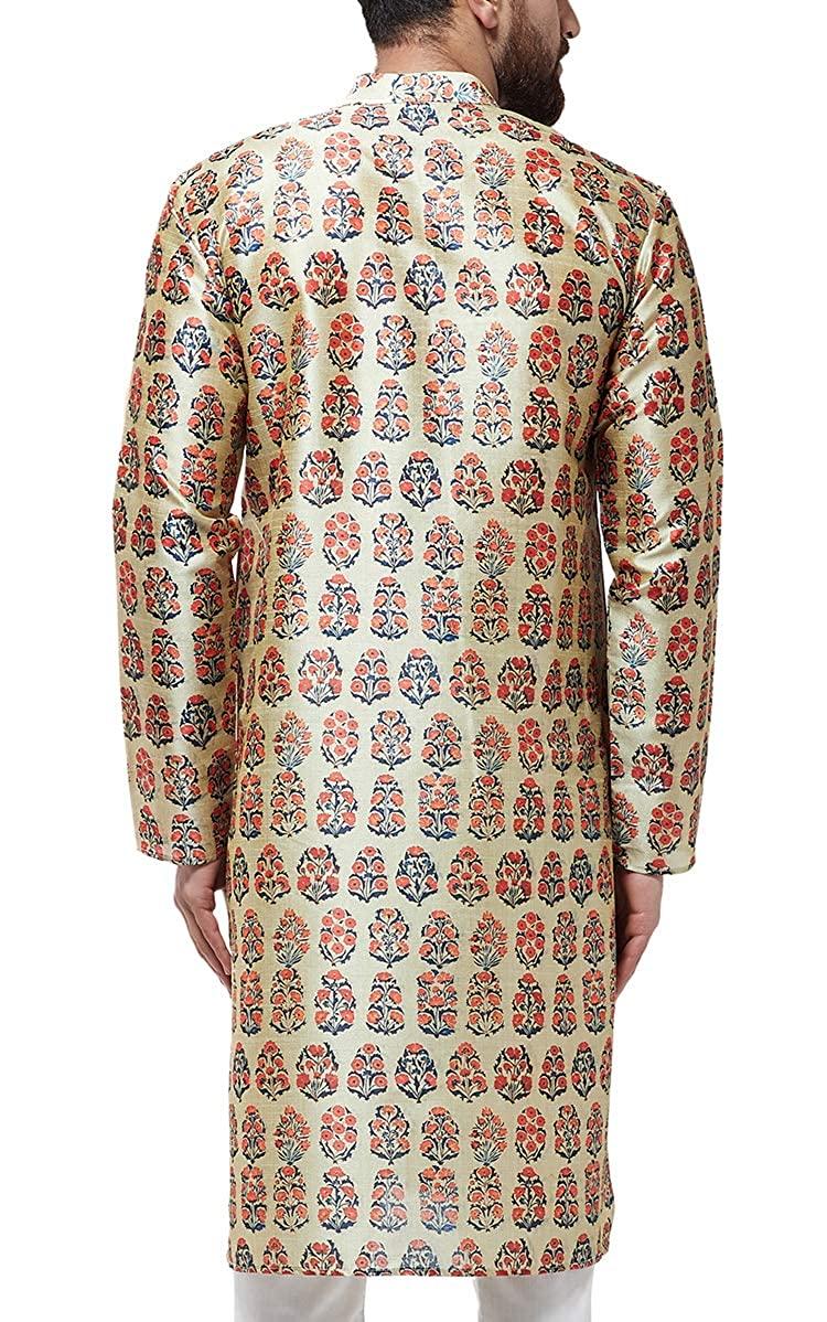 Festival-Men-Dupion-Silk-Kurta-Pajama-Ethnic-Party-Wear-Bollywood-Dress-Pyjama thumbnail 37