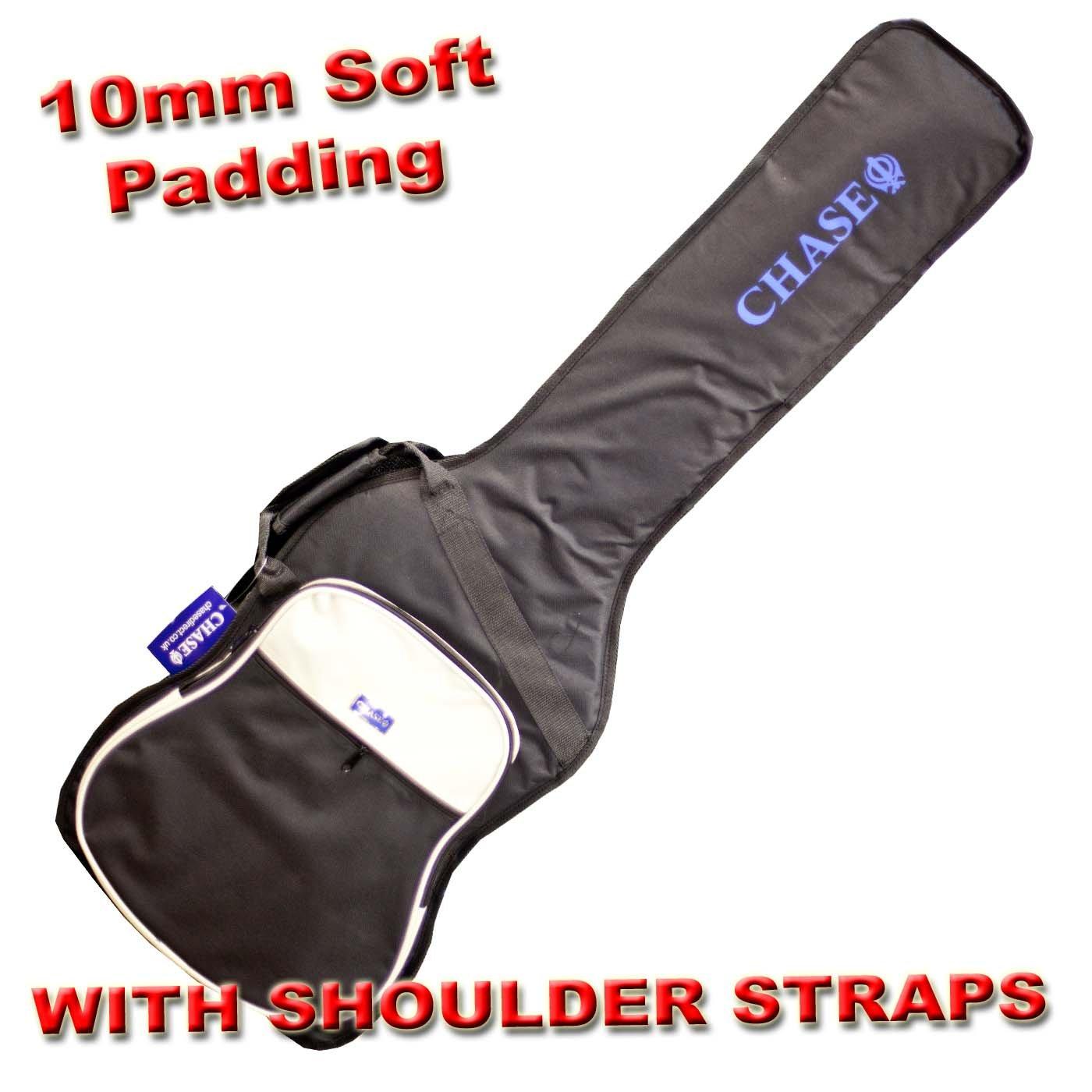 Chase CGB106SA Semi Acoustic Guitar Gig Bag 335 Style 10mm Padding Padded Shoulder Straps Soft Case
