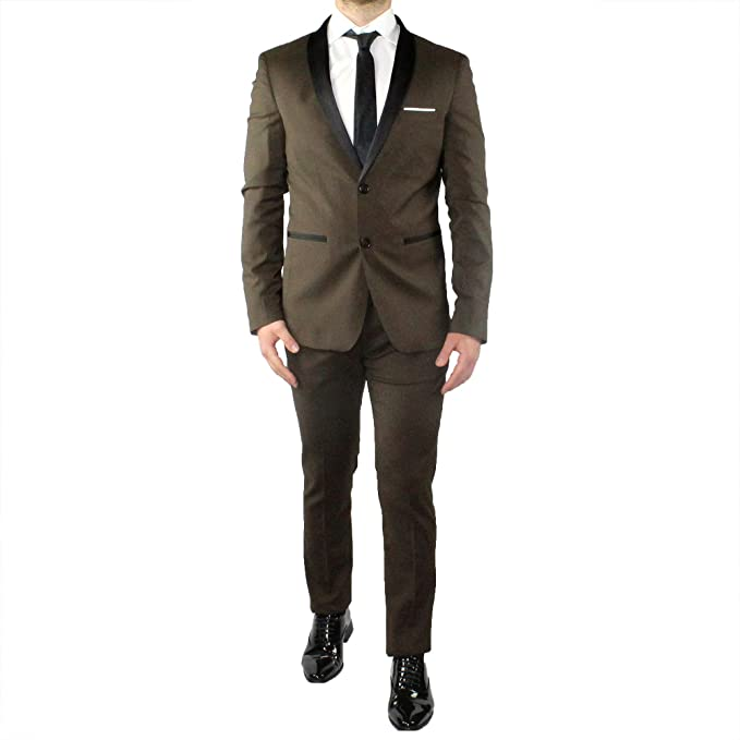 sconto di vendita caldo carino economico sfumature di Abito Uomo Elegante Smoking Sartoriale Completo Slim Fit Estivo ...