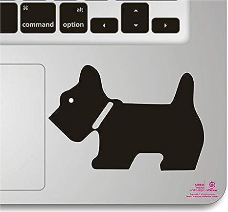 Pegatina para portatil o Macbook. Vinilo Schnauzer Chipie para touchpad. Adhesivo para
