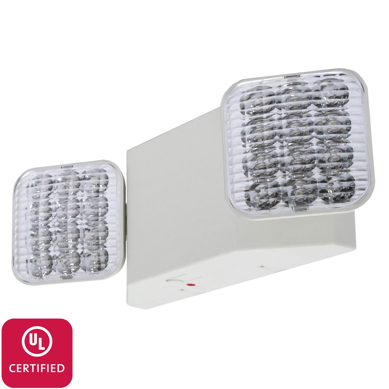 Lfi lights ul certified hardwired led standard emergency light lfi lights ul certified hardwired led standard emergency light square head elw2 commercial emergency light fixtures amazon aloadofball Gallery