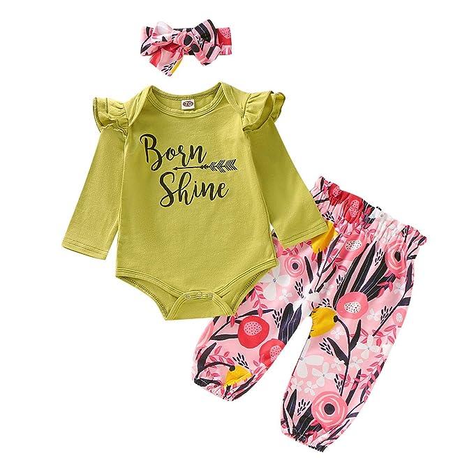 Amazon.com: Conjunto de ropa de verano con volantes y ...