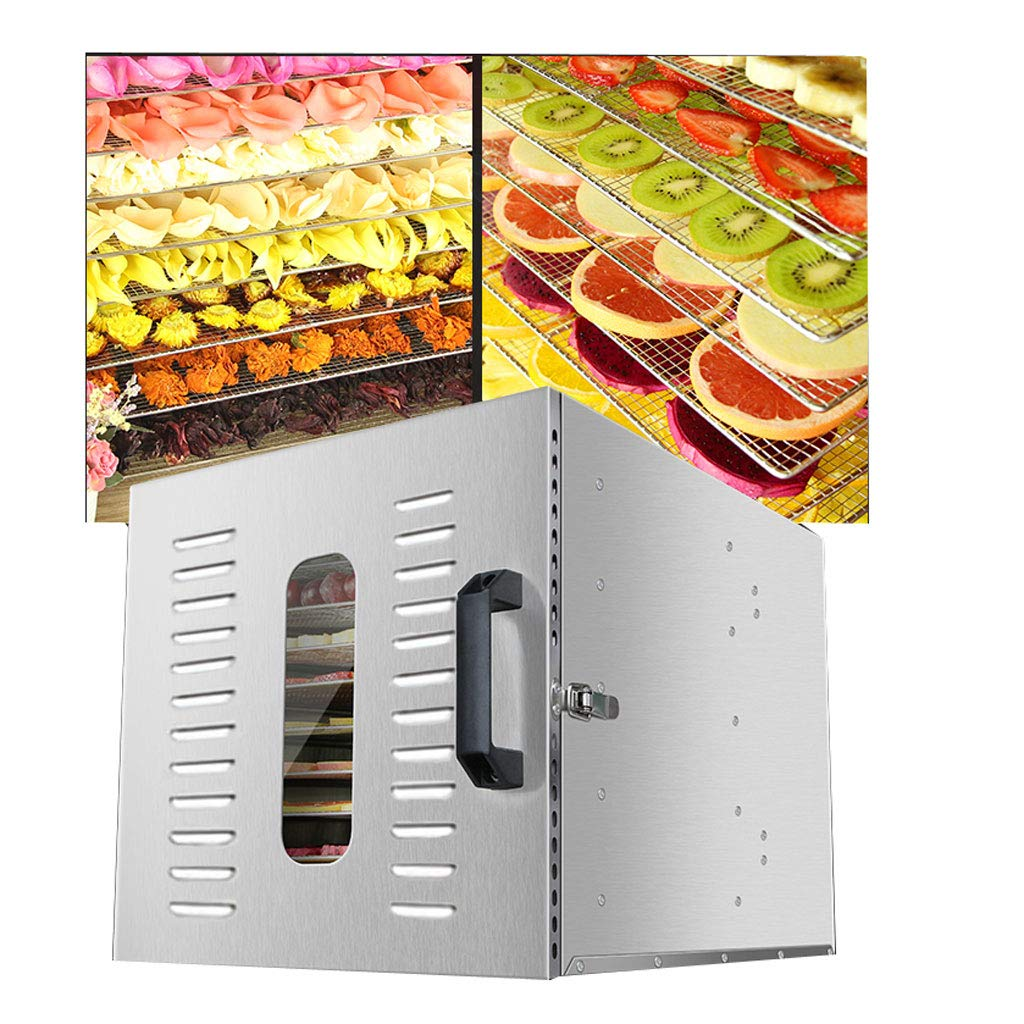 WLJHGJ Fruit Dryer,1000W Adjustable Temperature 30 to 90℃ and Timing Settings Multi Function Dryer for Fresh Keeping and Drying Of Fruits Meat 12 Layer Grid Home Fruit Dehydrator
