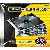 Fellowes 25er Pack Colour Slim Jewel Cases CD-lege hoezen gekleurd geslepen transparant