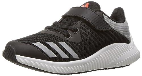 newest collection d3690 b7bf7 adidas Originals Boys  Fortarun EL Running Shoe,  Black Metallic Silver Energy
