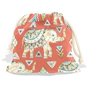 Amazon.com: Dragon Sword Tribal Indian Elephant Watercolor Gift Bags ...
