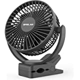OPOLAR Rechargeable Battery Operated Clip on Fan 5000mAh, Upgraded Quieter & Stronger Wind USB Desk Fan, Strong Hold…
