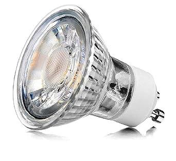 Super LED GU10 5W - DIMMBAR - Spot Strahler Glasgehäuse 230V warmweiß WH13