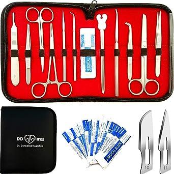 Lot de 7/Premium en acier inoxydable de qualit/é dissection dissection kit de biologie Student Lab outils
