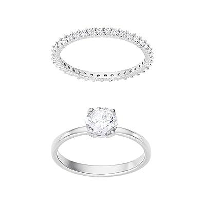 fbf633626 Swarovski Women White Crystal Solitaire Ring: Amazon.co.uk: Jewellery