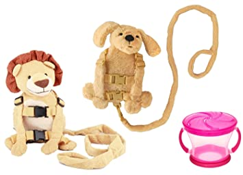 Amazon.com : Goldbug Animal 2 in 1 Harness Twin Pack with Free Snack