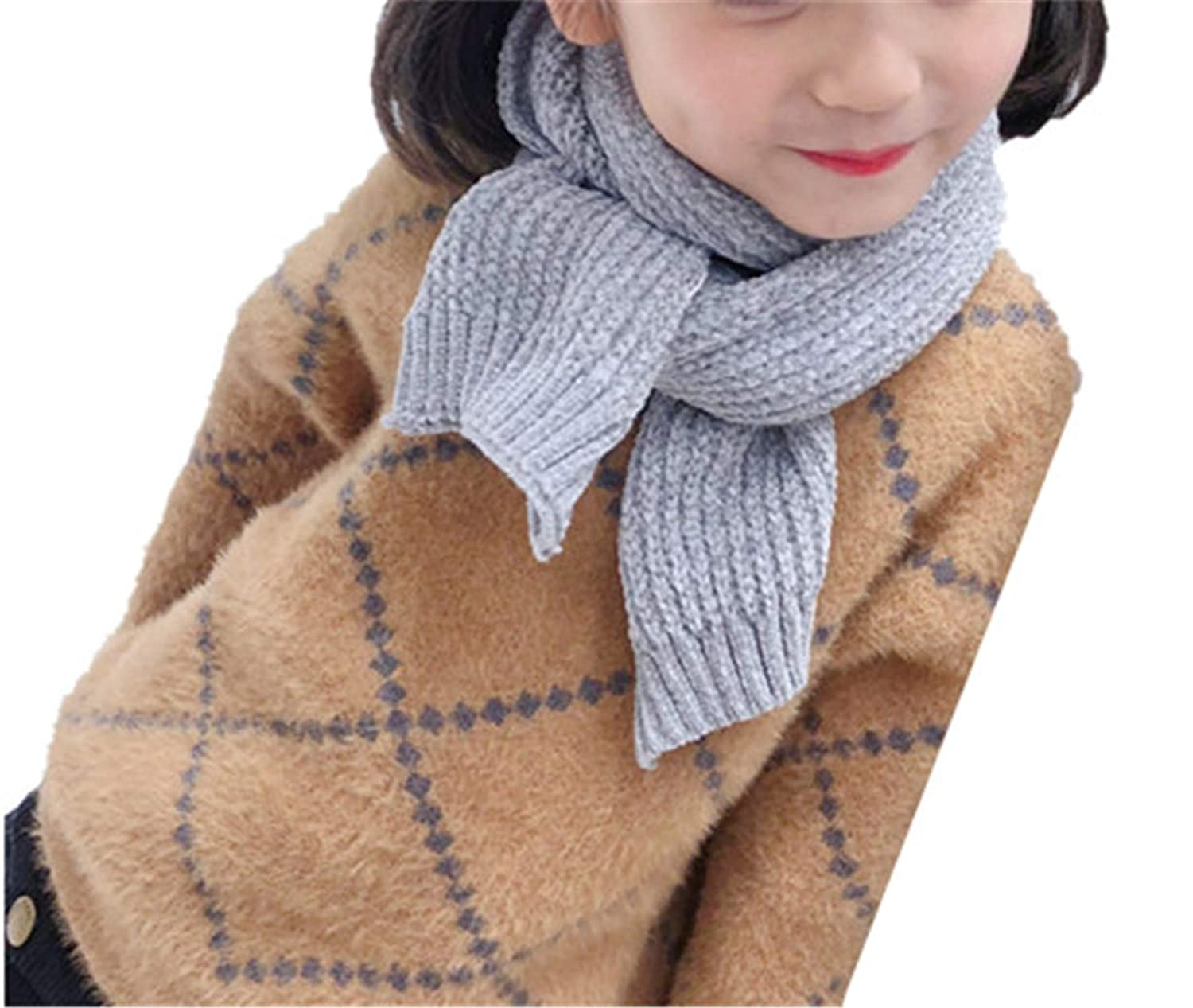 GUAHUAXIANG Fashion Lovely Cute Autumn Winter Boys Girls Baby Kid Solid Color Scarf