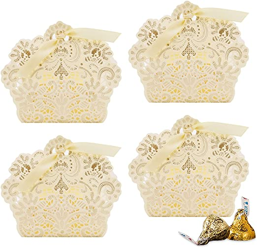 12 Cute Baby Shower Wedding Party Favor Candy Boxes with Handle