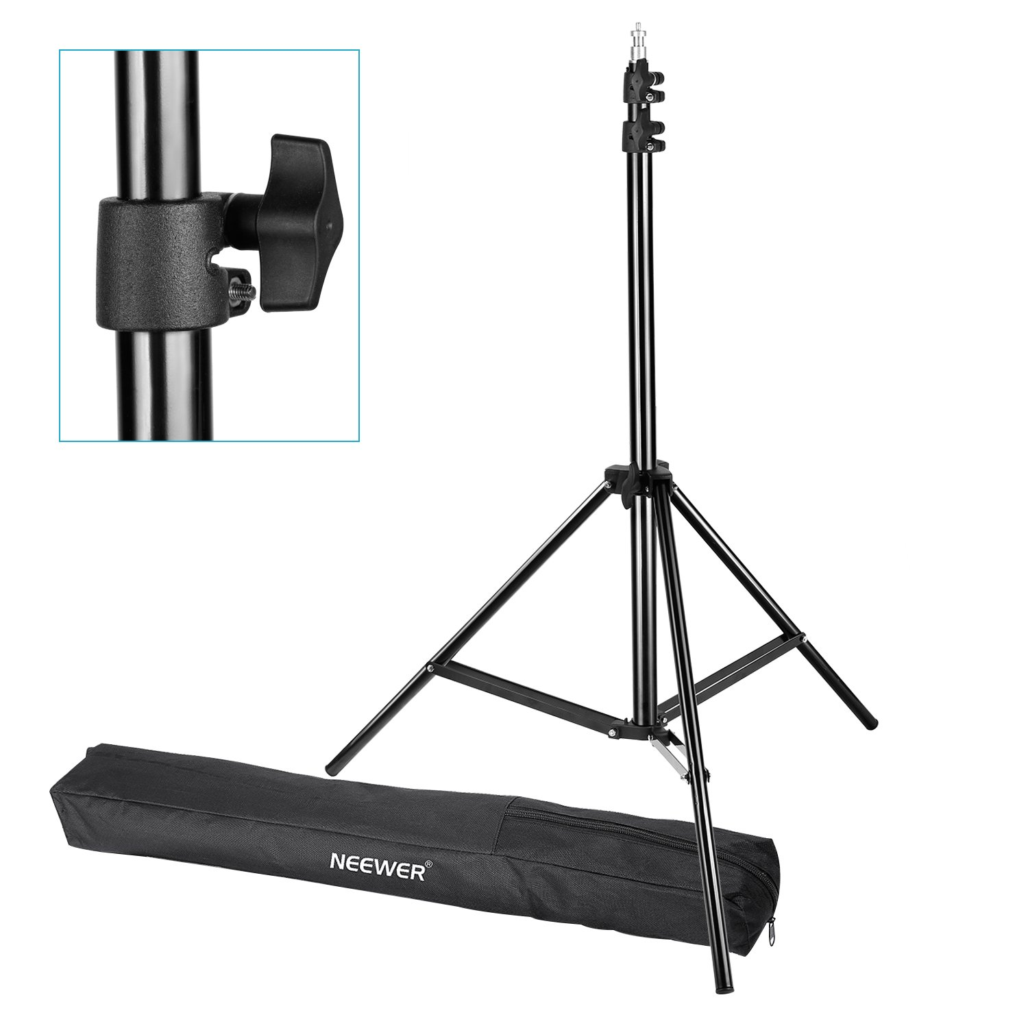 Neewer Pro 6 Feet/190CM Photography Light Stands with Carrying Case for Reflectors, Softboxes, Lights, Umbrellas, Backgrounds,etc. by Neewer