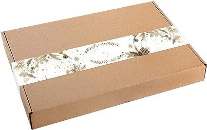 Logbuch-Verlag - Caja pequeña de papel de estraza para Navidad ...