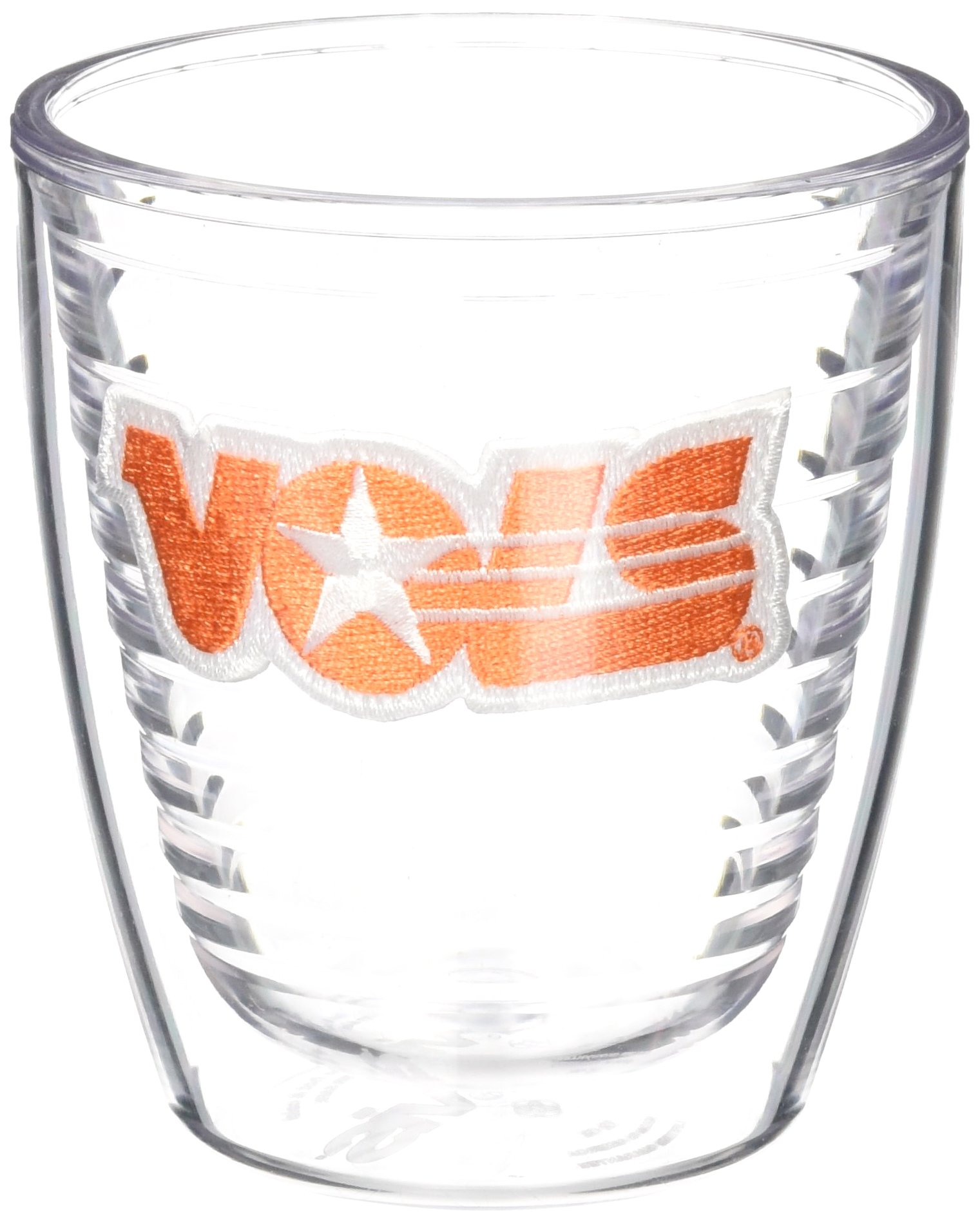 Tervis 1038138 Tennessee Volunteers College Vault Logo Tumbler with Emblem 4 Pack 12oz, Clear