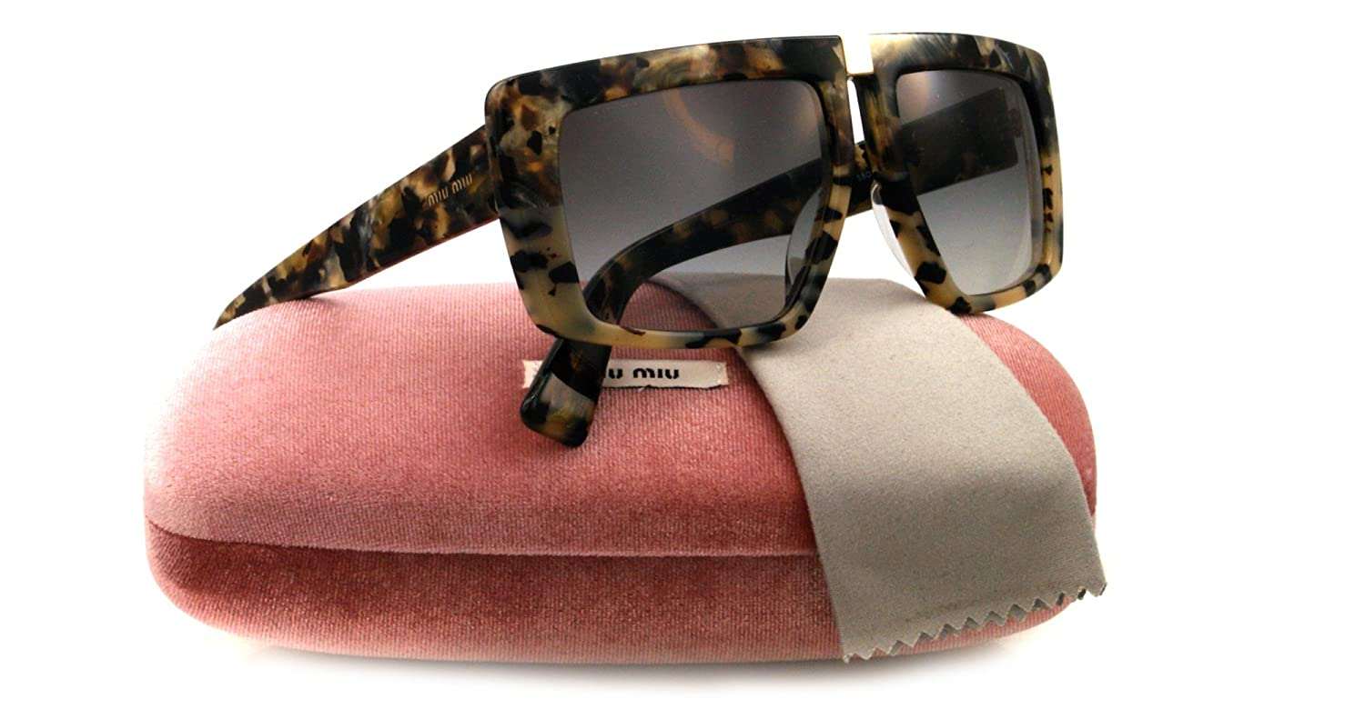 39dd9bcb7a3 Miu Miu Sunglasses SMU 05O BROWN MAM0A7 SMU05O  Amazon.co.uk  Clothing