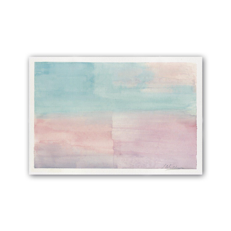 Cuadriman Menorca Peq Cuadro, Madera, Azul y Rosa Pastel, 60 x 40 cm CE16P