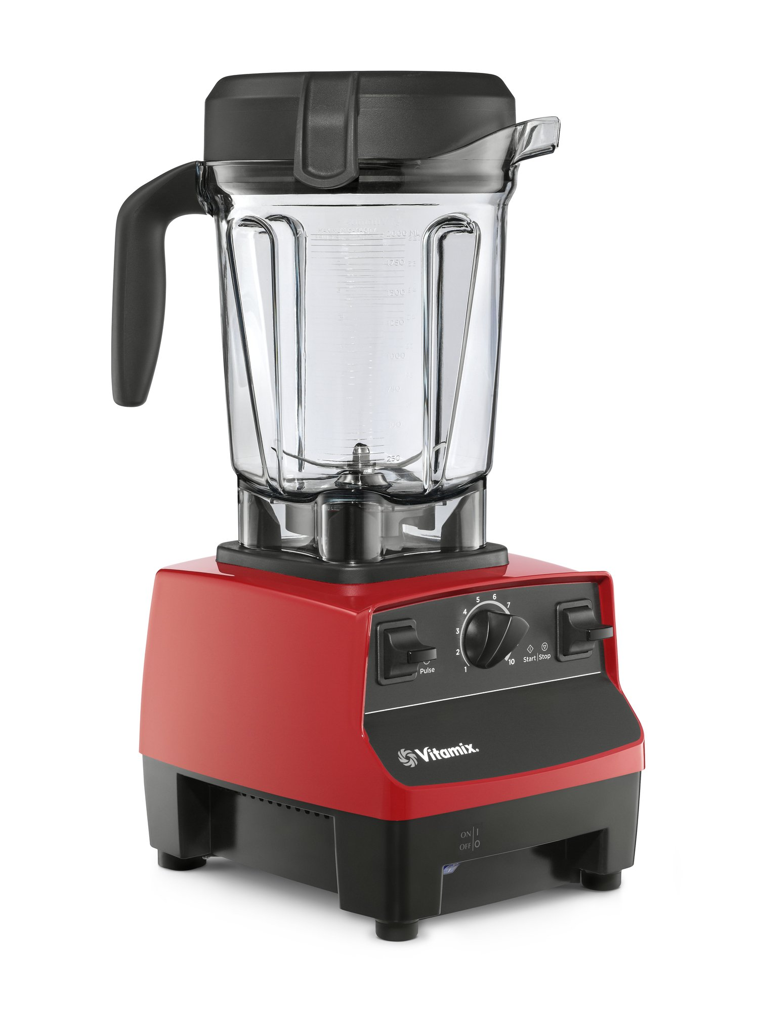 Vitamix 5300 Blender, Professional-Grade, 64 oz. Low-Profile Container, Red (Renewed) by Vitamix