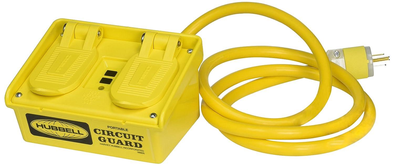 B000LEL1KI Power Protection Products, GFCI Portables, Commercial, Manual Set, 15A 120V AC, 5-15R, 6' Cord Length, 4-6 mA Trip Level, Yellow 71PqGrtlX8L._SL1500_