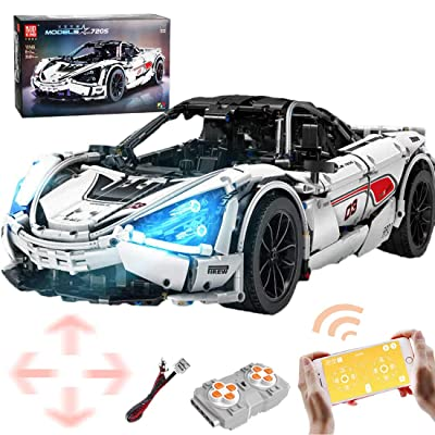 WOLFBSUH Race Car M-720S Building Set STEM Toy, 3149Pcs 1:8 2.4G RC Building Blocks and Engineering Toy Sports Car Model: Toys & Games