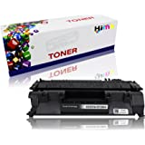 HIINK 1 Pack CE505A Toner Cartridge Replacement For HP 05A CE505A Toner Used in HP LaserJet P2035 P2035n P2050 P2055 P2055d P2055dn P2055x Series Printer (Black, 1-Pack)