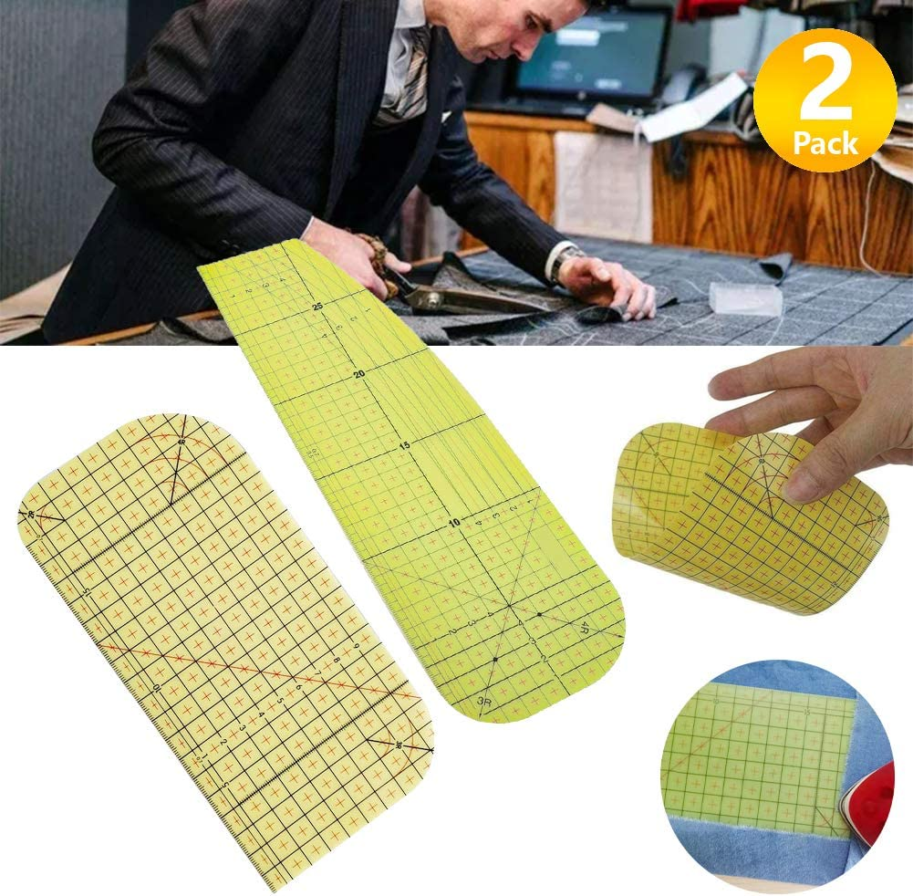 Patch Measuring Craft DIY Sewing Supplies Measuring Handmade Tool Patchwork Measuring Tools for Clothing Making Hot Hemmer Sewing Tools Hot Ironing Measuring Ruler