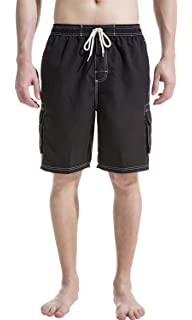 e303487e84 NORTY Mens Swim Trunks - Watershort Swimsuit - Cargo Pockets ...