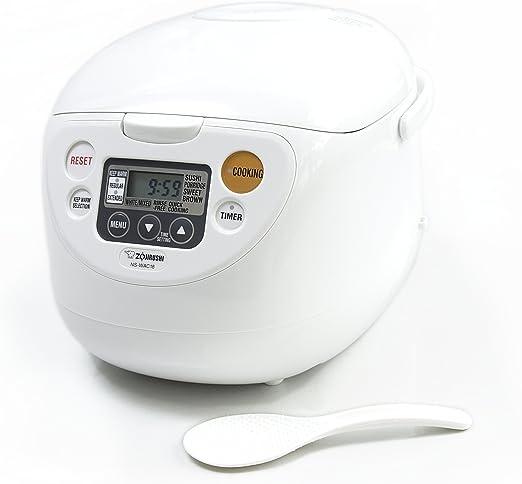 ZOJI NL-BAC05SB Micom Rice Cooker /& Warmer Silver Black