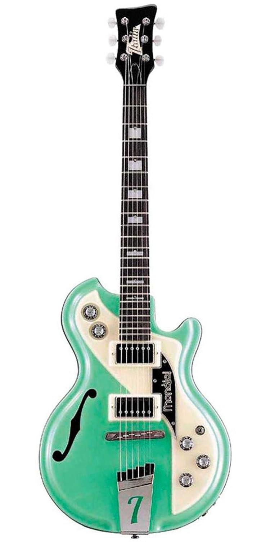 Italia Mondial Classic guitarra eléctrica - Verde - incluye carcasa rígida: Amazon.es: Instrumentos musicales