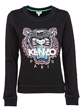 ff3d8582cad7 Kenzo Women's F952SW7054XA99 Black Cotton Sweatshirt at Amazon Women's  Clothing store: