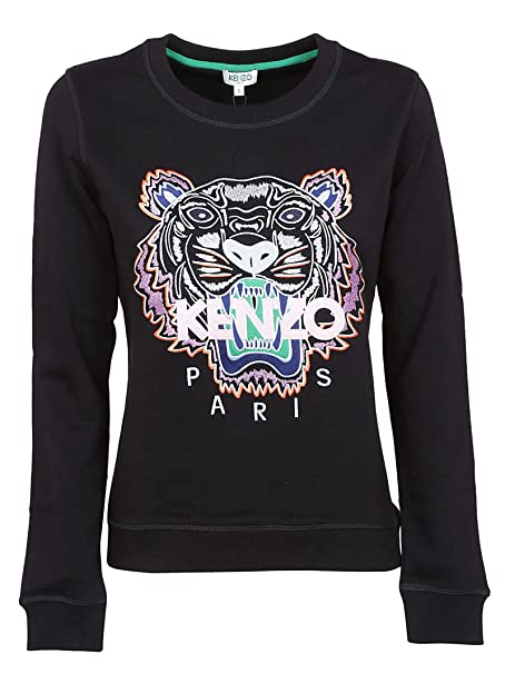 3213e93b Kenzo Women's F952SW7054XA99 Black Cotton Sweatshirt: Amazon.co.uk: Clothing