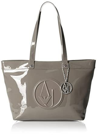 20927a72a7cd Amazon.com  Armani Jeans Eco Patent Tote Bag
