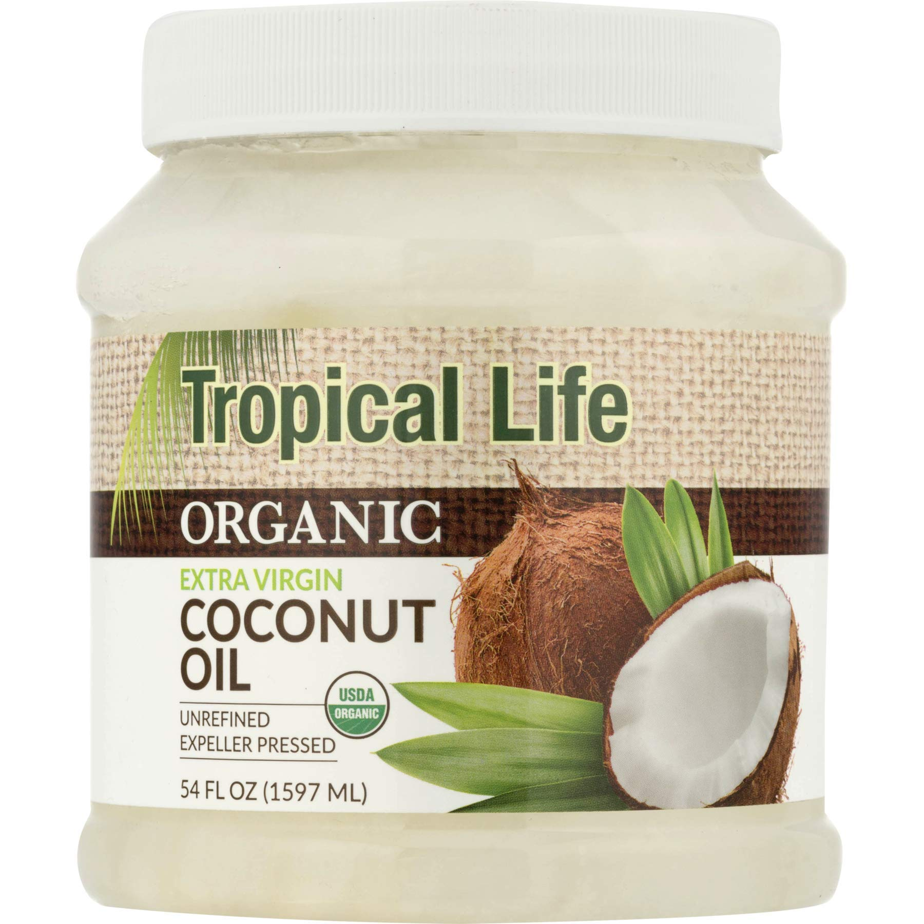 PACK OF 3 - Carrington Farms Tropical Life Organic Extra Virgin Coconut Oil, 54.0 FL OZ by Tropical Life