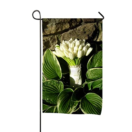 080e306674 Viola North Seasonal Garden Flag Large Holiday Yard Flags - Double Sided  Tulips White Bouquet Stones