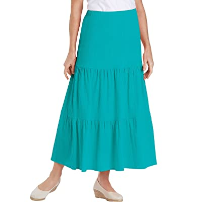 100% Cotton Crinkle Tiered Skirt