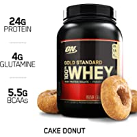 Optimum Nutrition Gold Standard 2-Pound 100% Whey Protein Powder (Cake Donut)