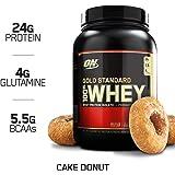OPTIMUM NUTRITION GOLD STANDARD 100% Whey Protein Powder, Cake Donut, 2 Pound