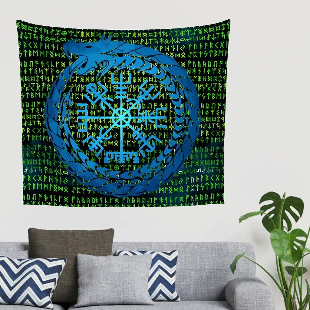 Charzee Tapisserie Murale Viking Berg Comforter Yoga Mat Home D/écorations pour Salon Chambre /à Coucher 40 * 59 Polyester Blanc