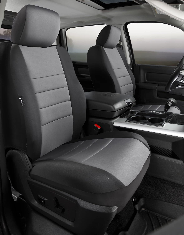 FIA NP97-38 Custom Fit Cover Front Bucket Seats-Neoprene Black w//Gray Insert