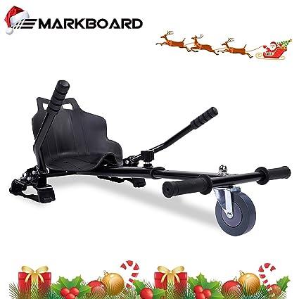 MARKBOARD Asiento Kart, Hoverkart para Patinete Eléctrico, Compatible con Hoverboard de 6.5, 8.5 y 10 Pulgadas