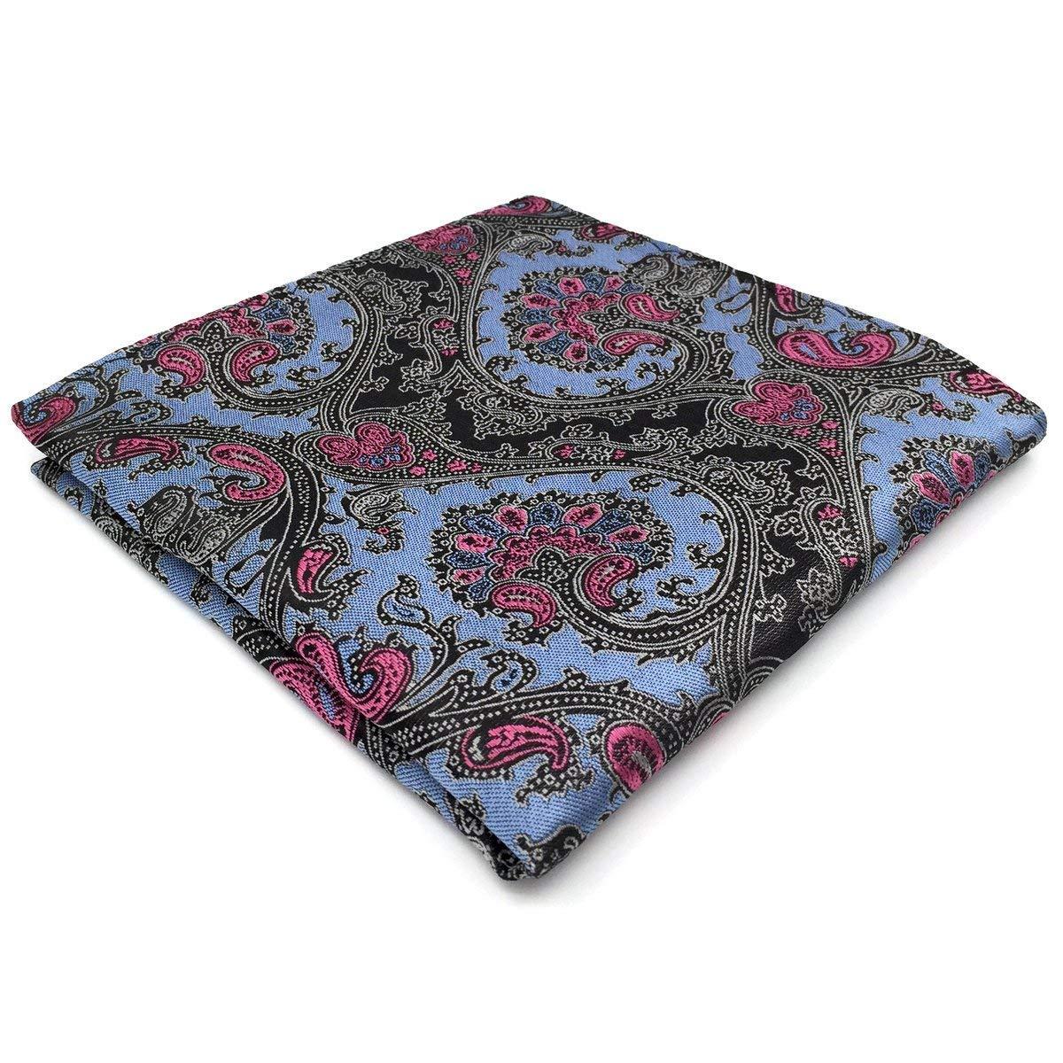 Shlax& Wing Paisley Blue Black Pink Pocket Square Mens Hankies Hanky PH31