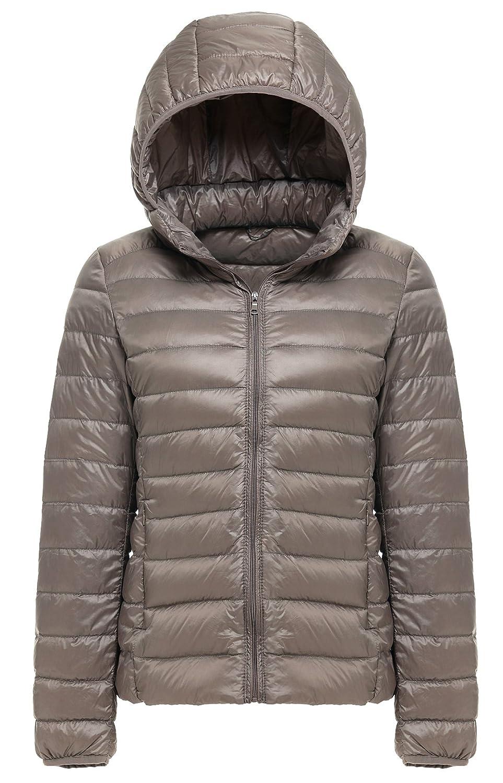b153e7f2f8a Amazon.com  Cheerun Women s Package Down Jacket Women Hooded Ultra Light  Weight Short Down Coat  Clothing