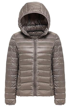 Women\'s Winter Hooded Short Down Jacket Ultra Light Weight Outdoor Coat B076D2JGHP