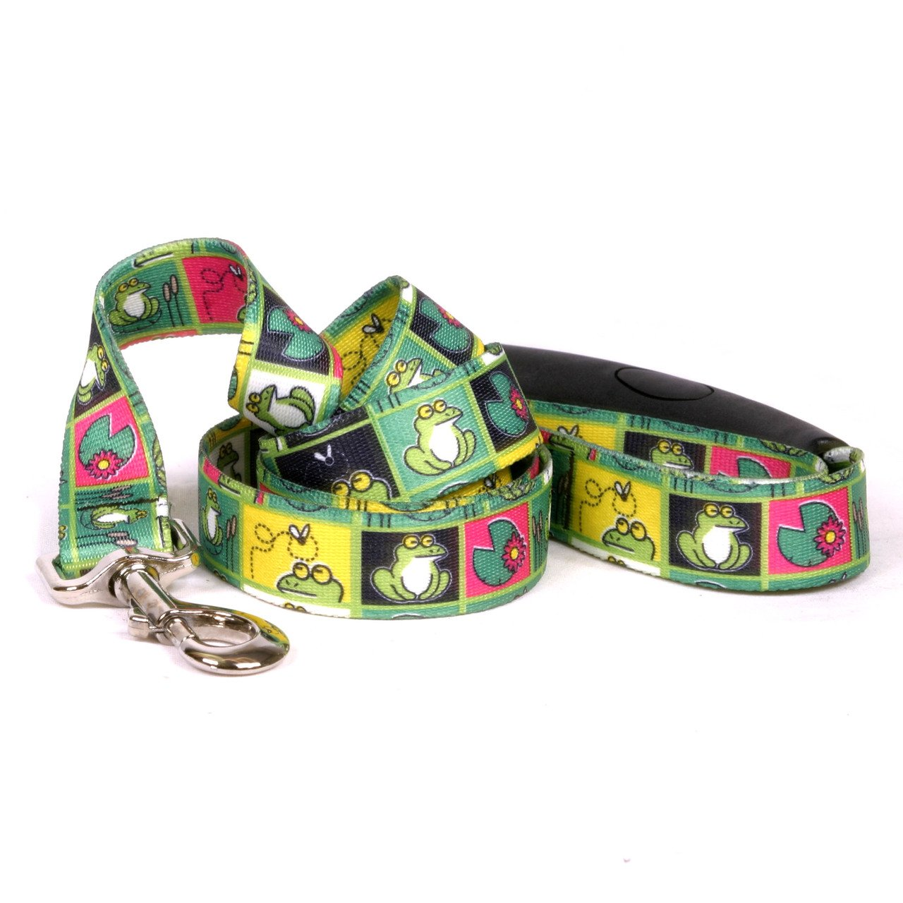 Yellow Dog Design Frogs Ez-Grip Dog Leash with Comfort Handle 3/4'' Wide and 5' (60'') Long, Small/Medium by Yellow Dog Design