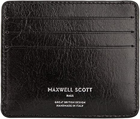 Marco Black Maxwell Scott Quality Leather Mens Card Holder