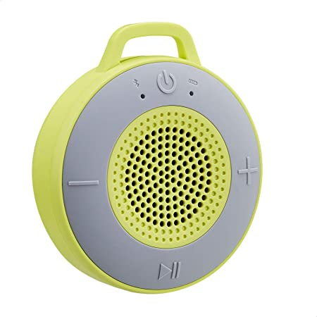 Amazon Basics Kabelloser Dusch Lautsprecher Mit 5 W Treiber Saugnapf Eingebautem Mikrofon Hellgrün Audio Hifi