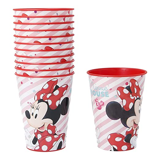 PACK 12 VASOS PARA CUMPLEAÑOS | MINNIE ELECTRIC DOLL: Amazon ...