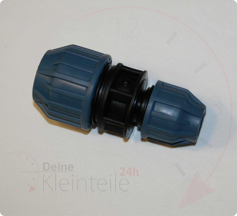 25mm 20mm PE pipe plastique dVGW klemmverbinder klemmfitting transition manchon raccord de r/éduction